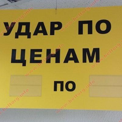 Табличка подвесная из ПВХ + карман, двухсторонняя