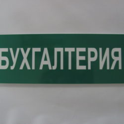 Табличка из ПВХ «А5 Г» одноцветная